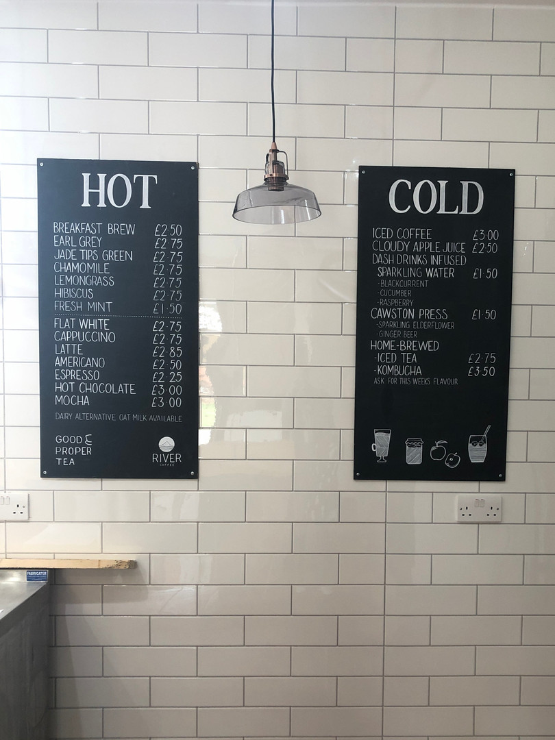 Drinks Menu Boards