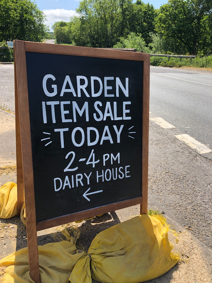 Garden Sale Chalk Board