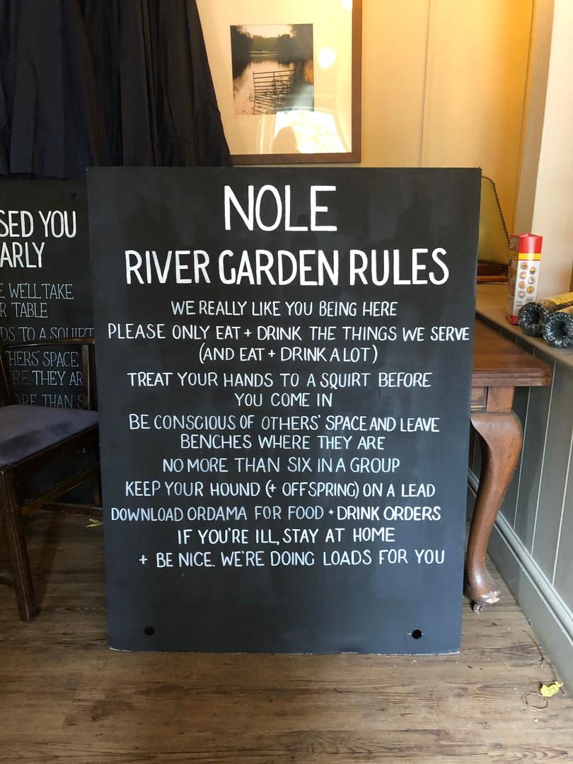 Garden Rules Blackboard (Paint & Pen)