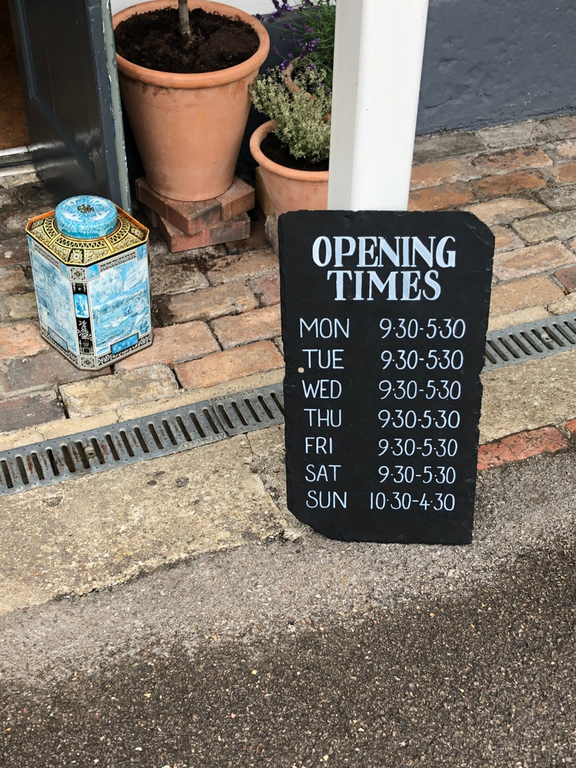 Opening Times Slate