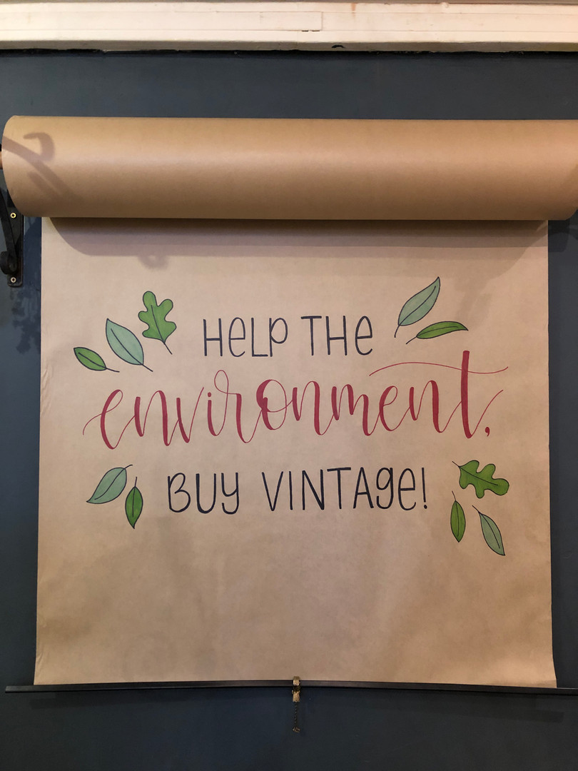 Brown Paper Lettering Ad