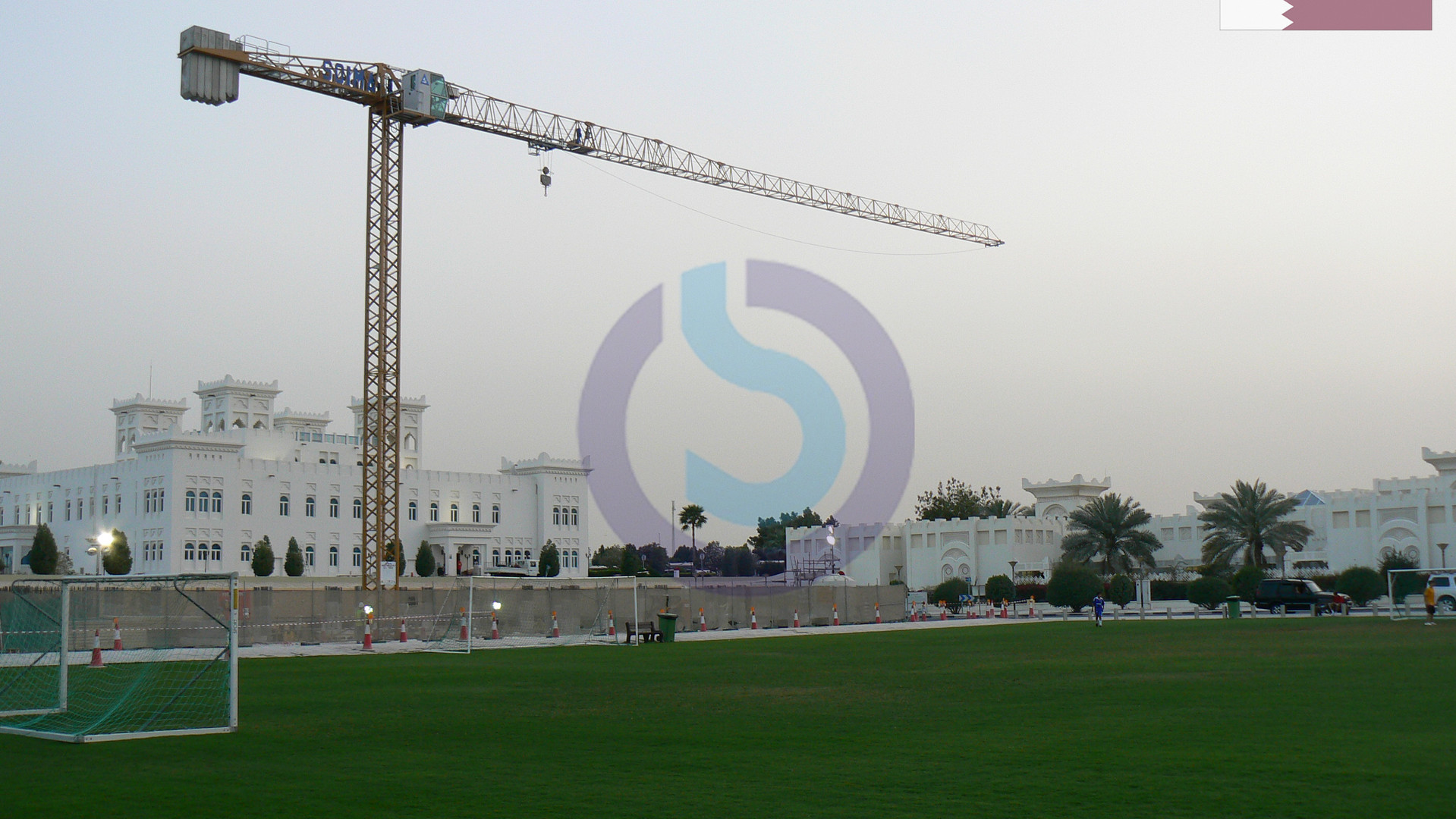 Tower crane in Qatar