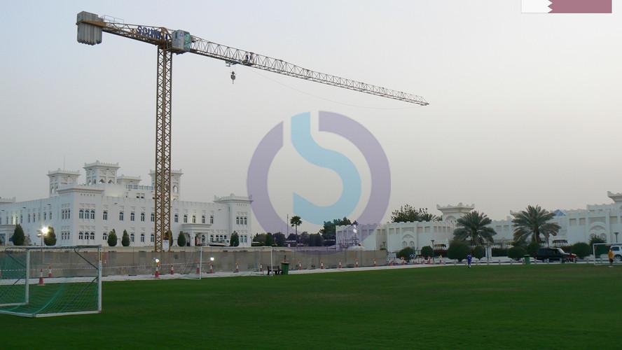 Tower crane in Qatar