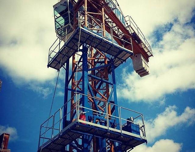 Tower crane in Brazil