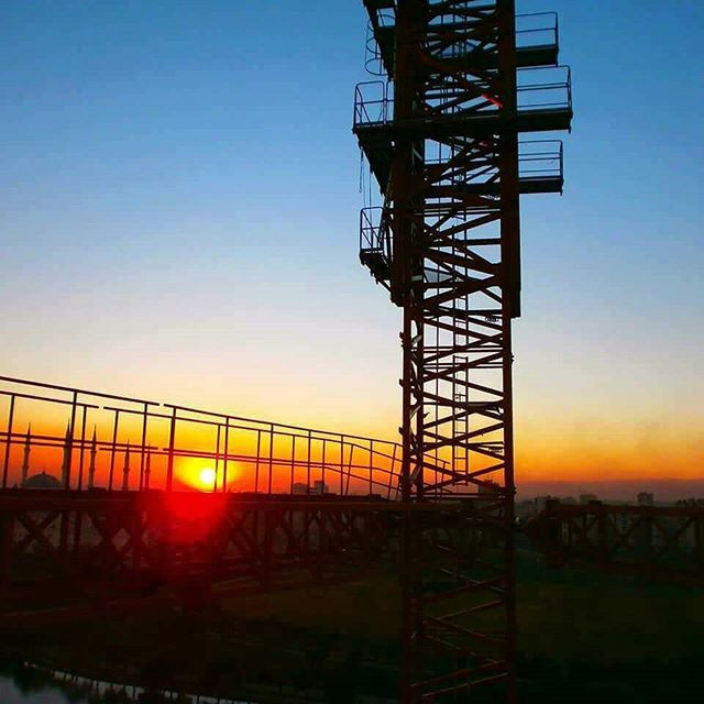 Turkey - tower crane with sunset