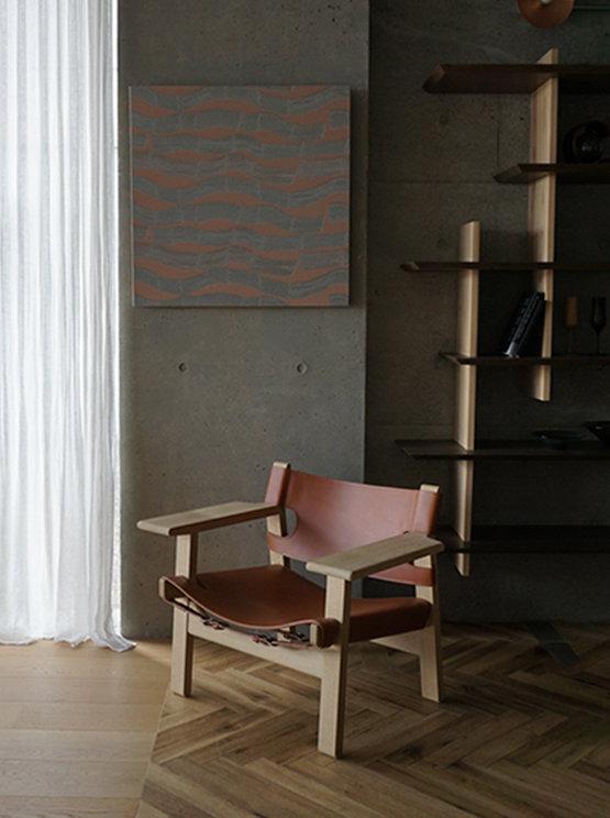 北欧の名作家具、Borge Mogensenの代表作の椅子、Fredericia社のThe Spanish Chair イージーチェア。