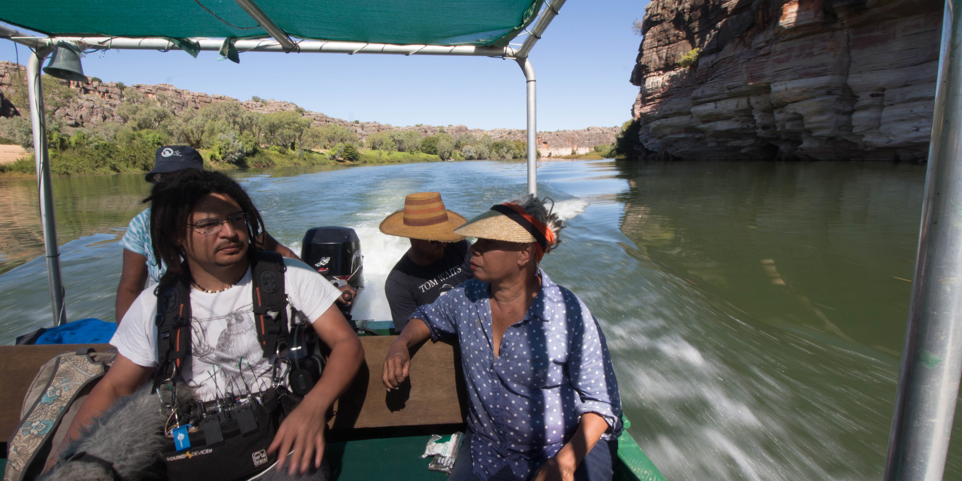 MIC THE BOAT, RECORD SOUND FITZROY CROSSING RIVER