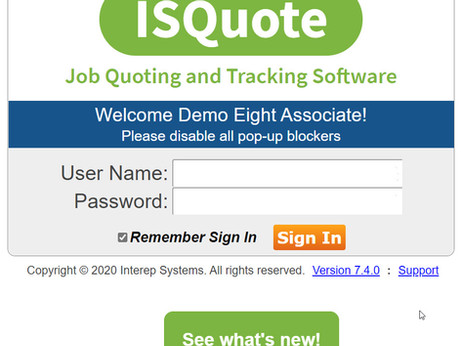 ISQuote 7.4 Release!
