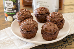 Chocolate Muffins with Chocolate Frosting Chocolate Muffins