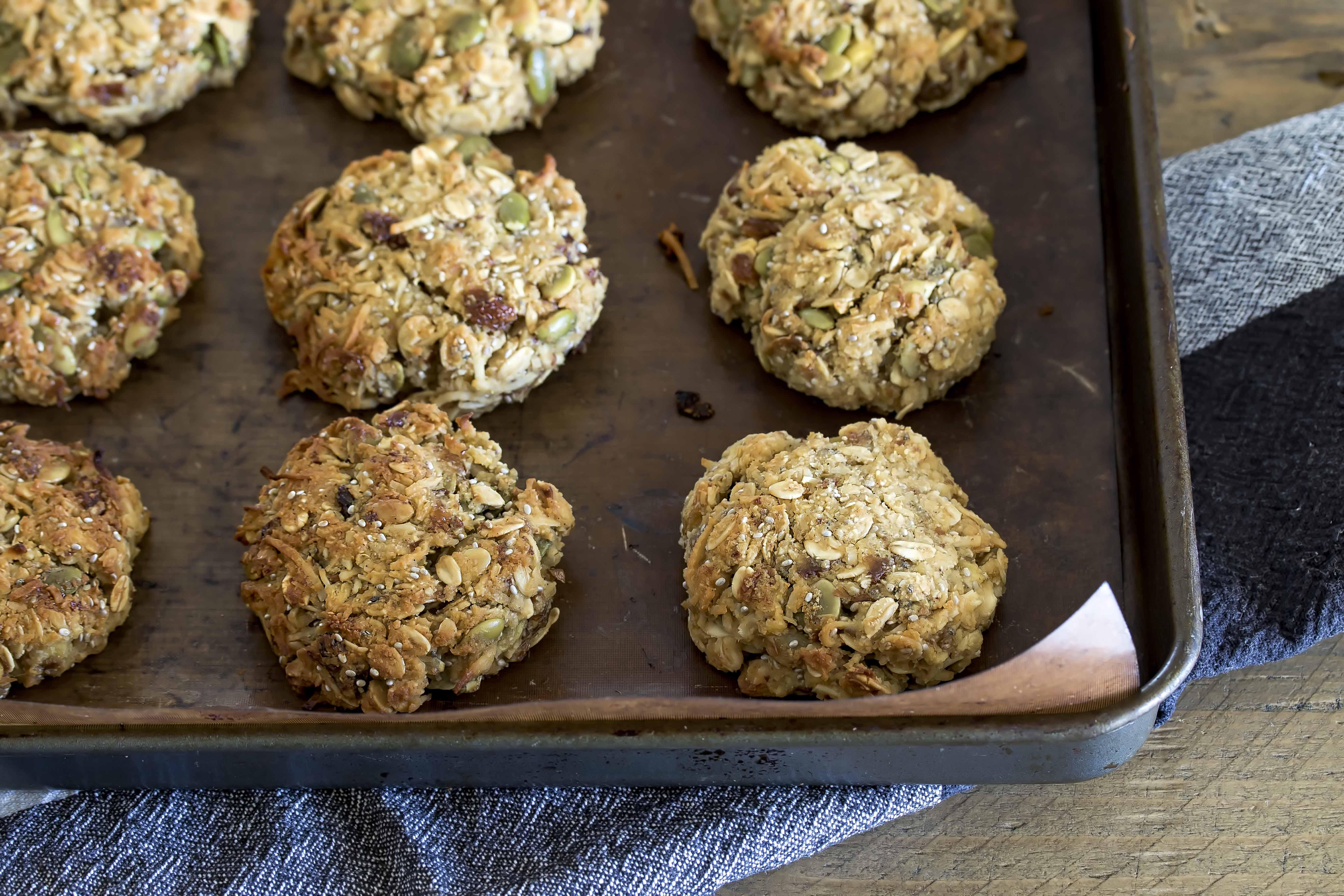 Pineapple White Choc Pepita cookies