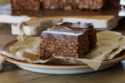 Choc Chip Protein Bars with Chocolate Frosting