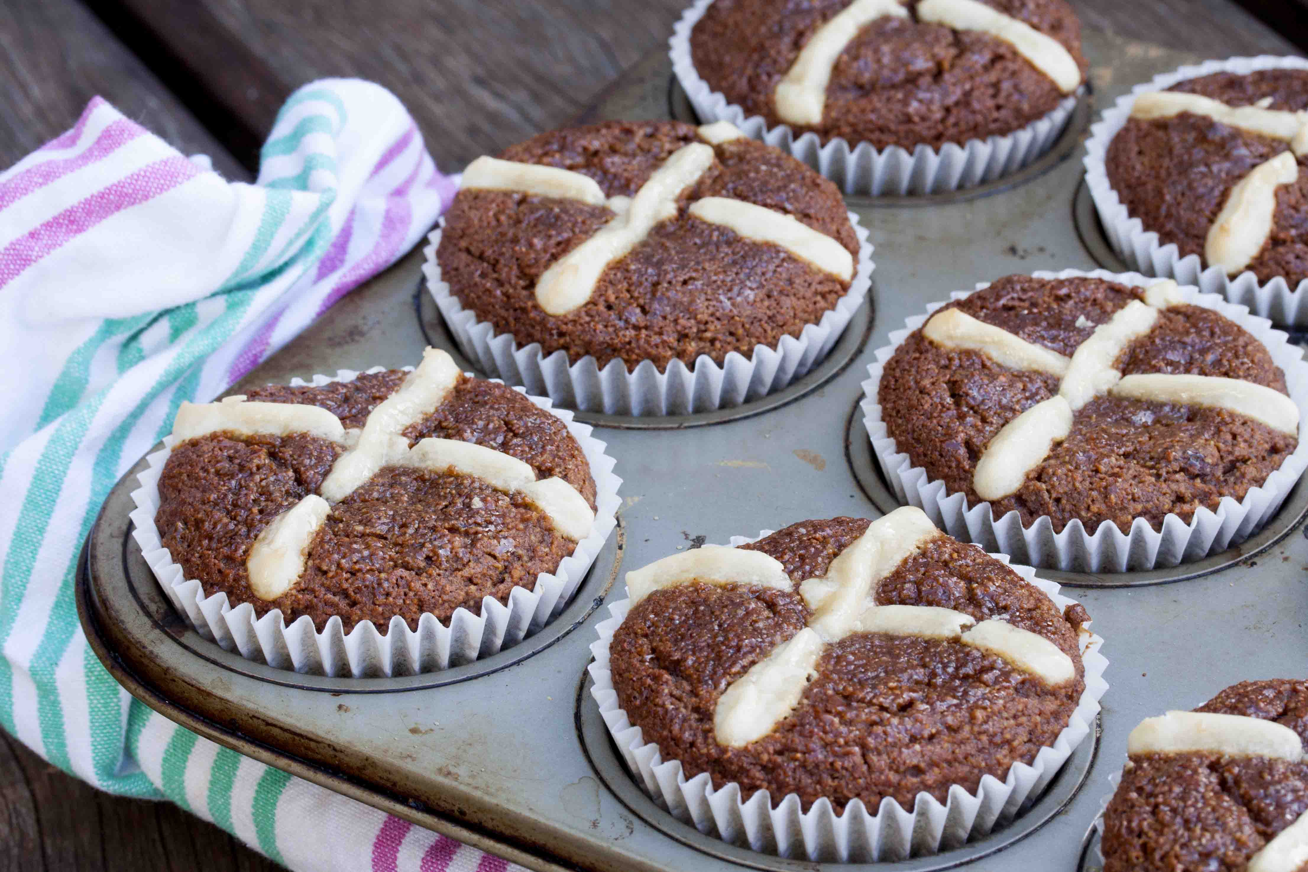 Paleo Banana Easter Muffins
