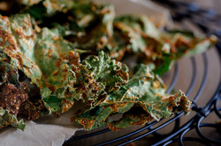 Cheesy BBQ Kale Chips