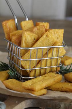 Cheesy Polenta Chips