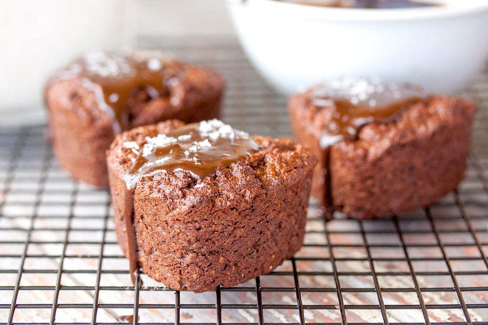 Chocolate Fudge Muffins with Frosting   vegan   gluten free   grain free   Paleo