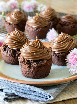 Sugar free Chocolate Muffins with Choc Prot Frosting