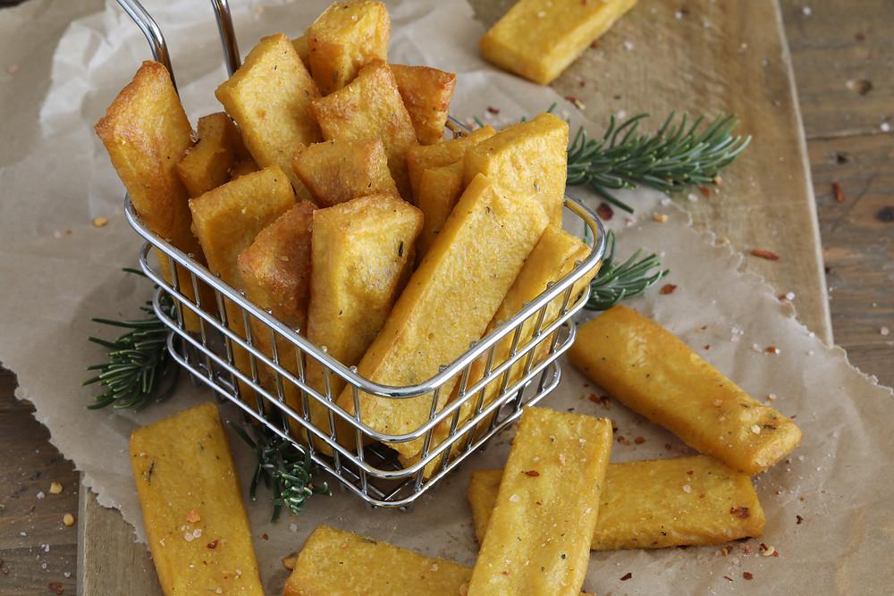 Cheesy Polenta Chips (Scagliozzi)