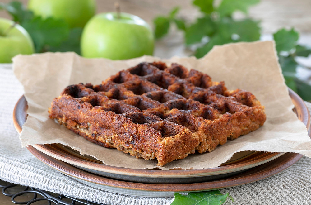 Apple and Cinnamon Spiced Anzac Waffles