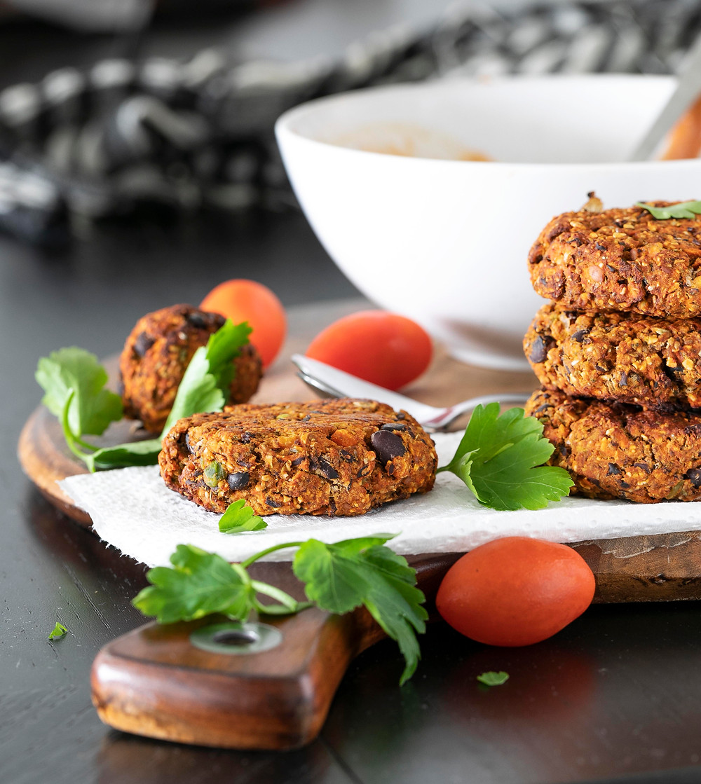 Black Bean Patties, balls and burgers