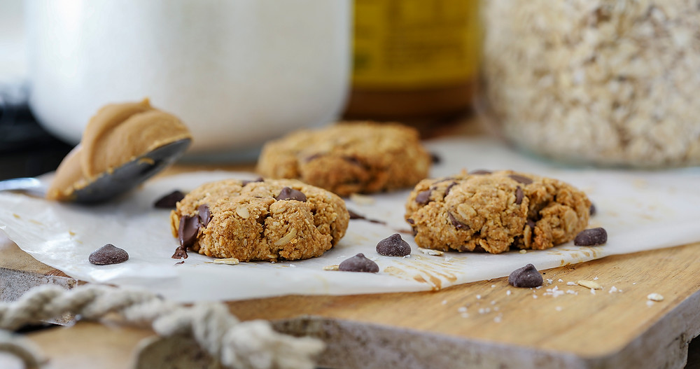 Choc Chip Peanut Butter Cookies - slow bake