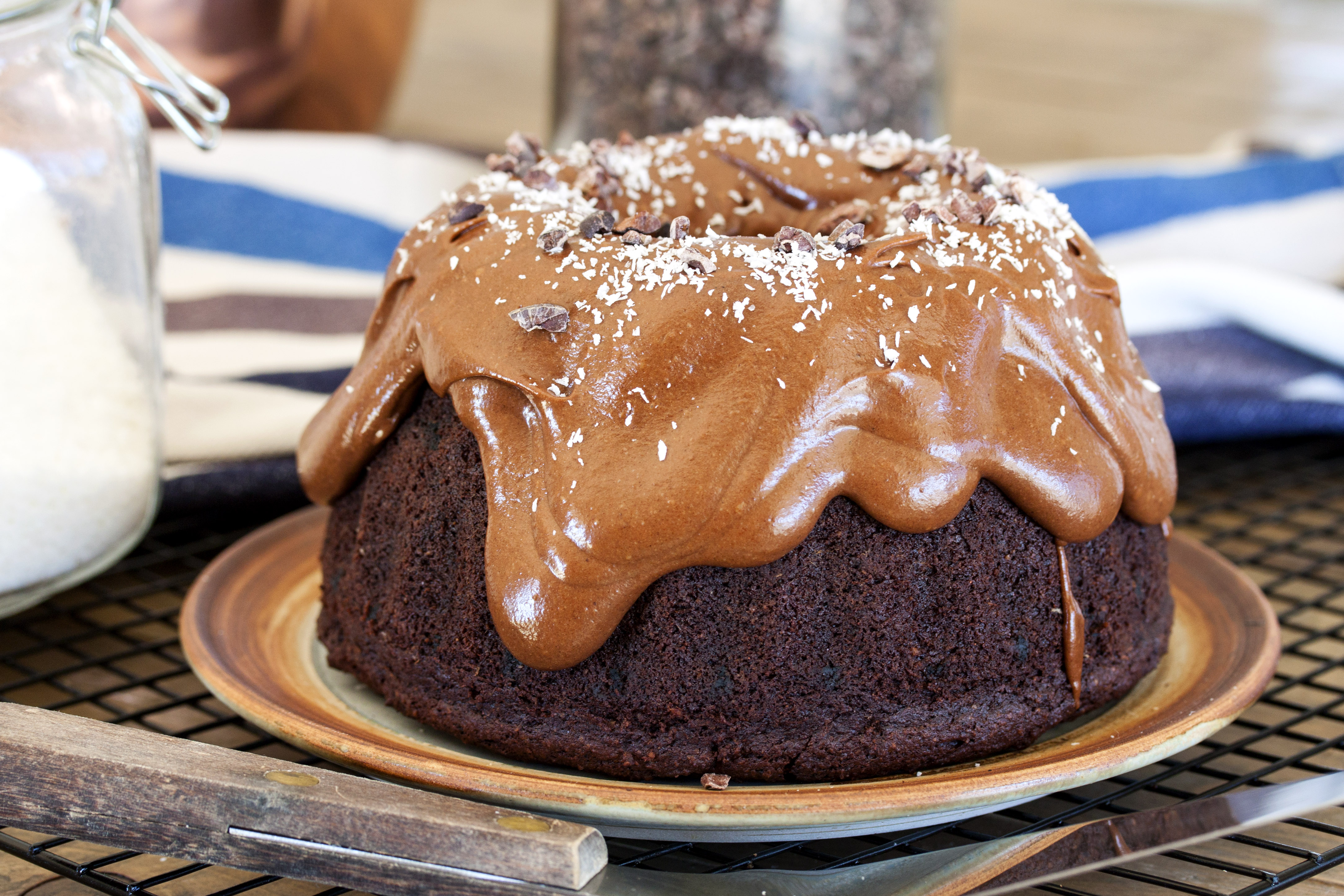 Vegan Chocolate Cake with Frosting