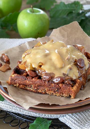 Apple and Cinnamon Spiced Anzac Waffles