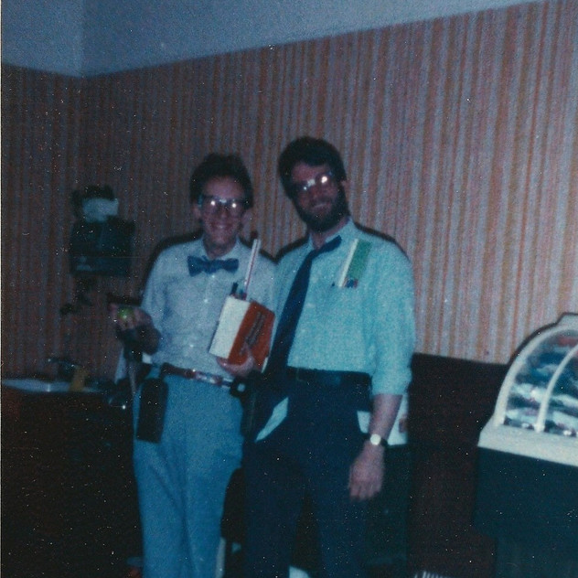 Rob Acker and Karl Nerd Contest Winners.