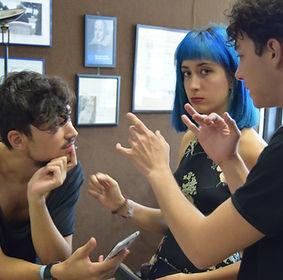 javier majuelo - mauro cervera just- rosalía moncholi- rosiros- instituto shakespeare- escuela de actores shakespeare