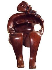 bronze patiné n°5 sur 8, H17 x L16,5 x P15 cm - METRANVE