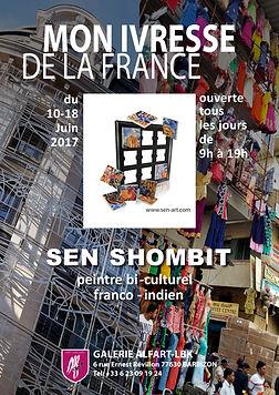 Exposition de SEN SHOMBIT à la Galerie ALFART-LBK de Barbizon du 10 au 18 juin 2017.