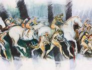 huile sur toile, 65x120 cm - Eric DEDEBANT