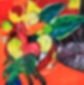 Huile sur toile, 90x90 cm - Andrée DE FREMONT