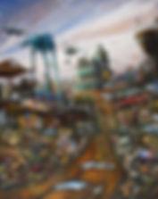 huile sur bois, 81 x 65 cm - Pierre GOLVAN