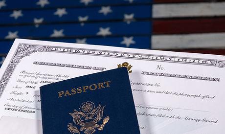 USA passport and Naturalization Certific