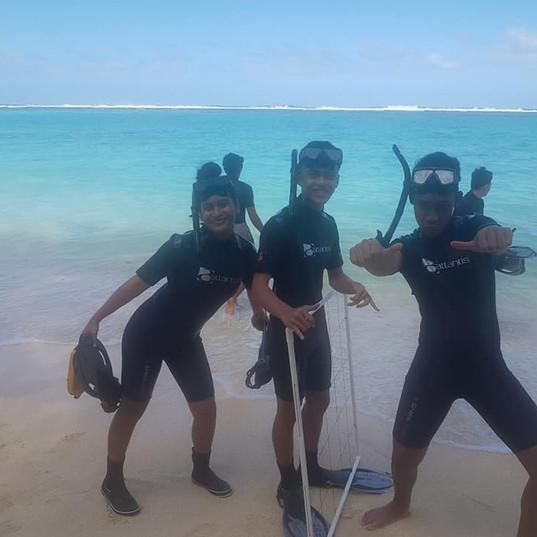 Reef survey at Kavera - Rongohiva