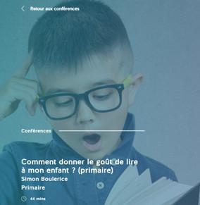 Conférence ($) Comment donner le goût de lire