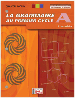 Grammaire au 1er cycle A 1re secondaire