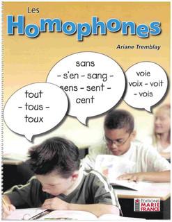 Les homophones - cahier
