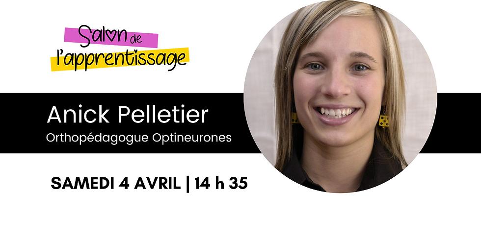 14 h 35 Anick Pelletier   La régulation émotionnelle et la gestion de l'impulsivité