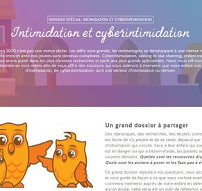 Dossier intimidation et cyberintimidation