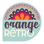 Logo orange retro
