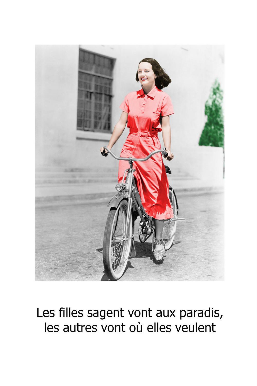 1-Carte vintage Les filles sagent
