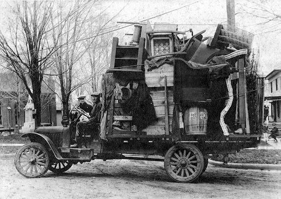 camion déménagement antique