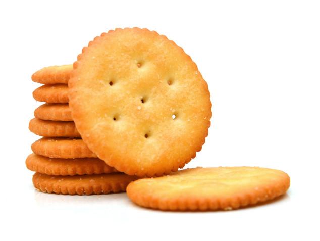 Cracker isolated on over white backgroun