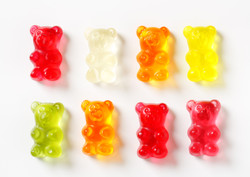 selection of gummy bears