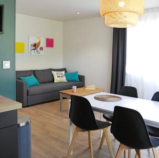Séjour/cuisine - appartement n°10