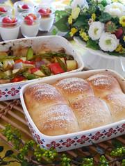 ホーローパン基本のちぎりパン