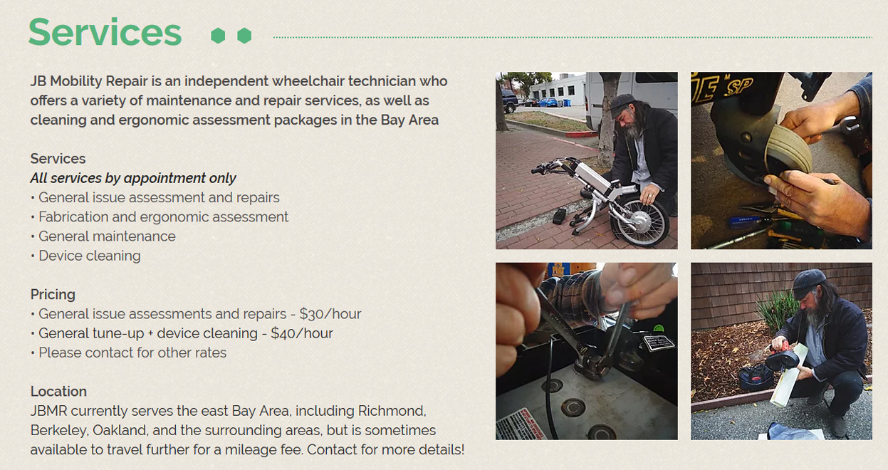 JB Mobility Repair Services Page