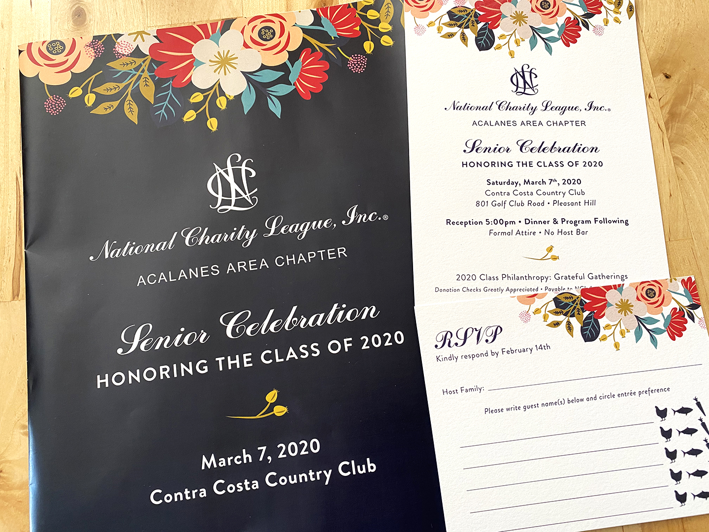 Event Program Cover, Invitation, RSVP