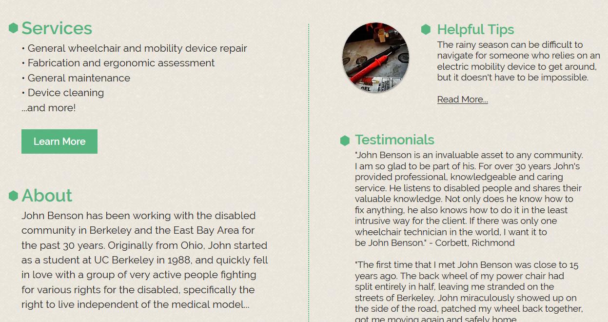JB Mobility Repair Main Page